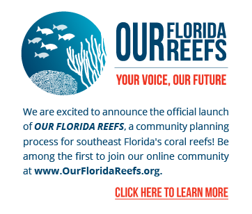 Our Florida Reefs. Your Voice, Our Future. It's time for you to join the conversation to save Our Florida Reefs! We are excited to announce Community Meetings in 2016! For a full list of dates and locations, please visit www.ourfloridareefs.org. Click here to learn more.